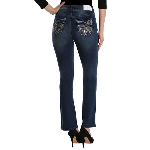 Women's Hydraulic Embellished Midrise Bootcut Jeans