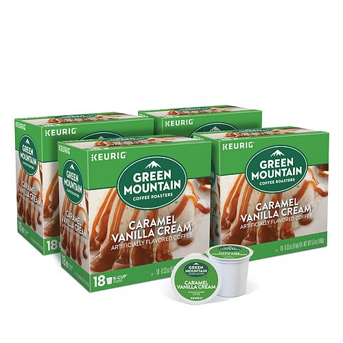 Green Mountain Coffee Caramel Vanilla Cream Flavored Keurig® K-Cup® Pods, Light Roast, 72 Count