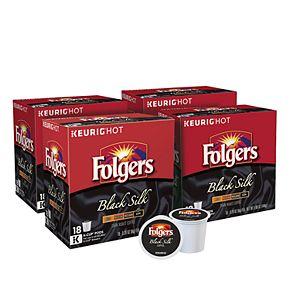 Folgers Black Silk Coffee, Keurig® K-Cup® Pods, Dark Roast, 72 Count