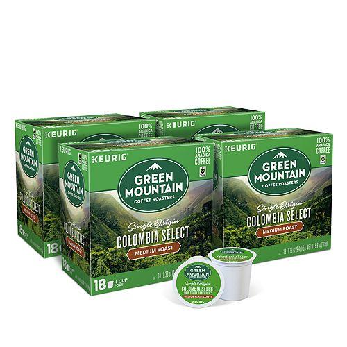 Green Mountain Coffee Colombian Fair Trade Keurig® K-Cup® Pods, Medium Roast, 72 Count