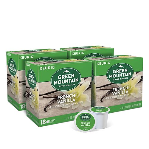 Green Mountain Coffee French Vanilla Flavored, Keurig® K-Cup® Pods, Light Roast, 72 Count