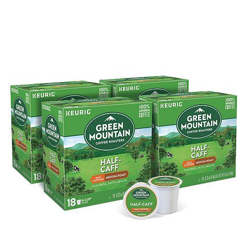 Green Mountain Coffee Half-Caff, Keurig® K-Cup® Pods, Medium Roast, 72 Count