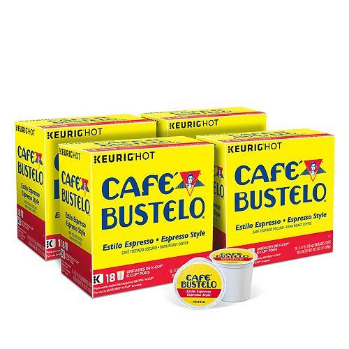 Café Bustelo Espresso Style, Keurig K-Cup Pods, Dark Roast - 72-pk.