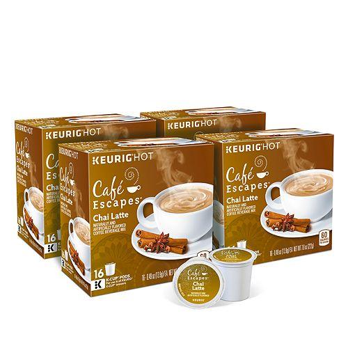 Café Escapes Chai Latte Keurig® K-Cup® Pods, 64 Count