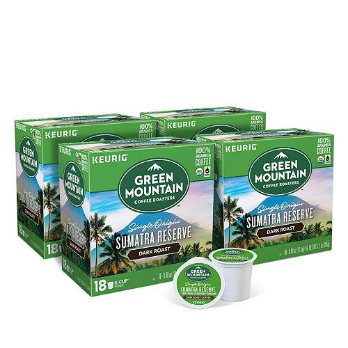 Green Mountain Coffee Sumatran Reserve, Keurig® K-Cup® Pods, Dark Roast, 72 Count