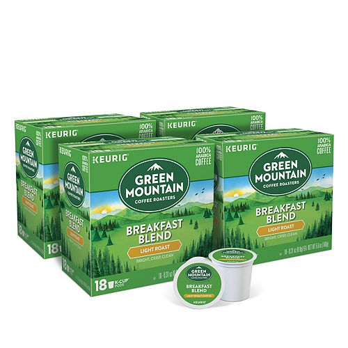 Green Mountain Coffee Breakfast Blend Keurig® K-Cup® Pods, Light Roast, 72 Count