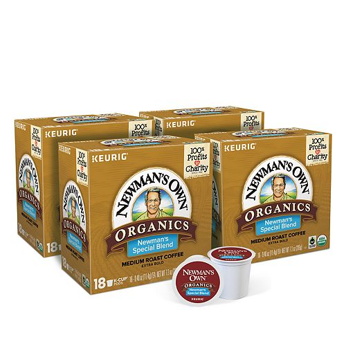 Newman's Own Organics Special Blend Coffee, Keurig® K-Cup® Pods, Medium Roast, 72 Count