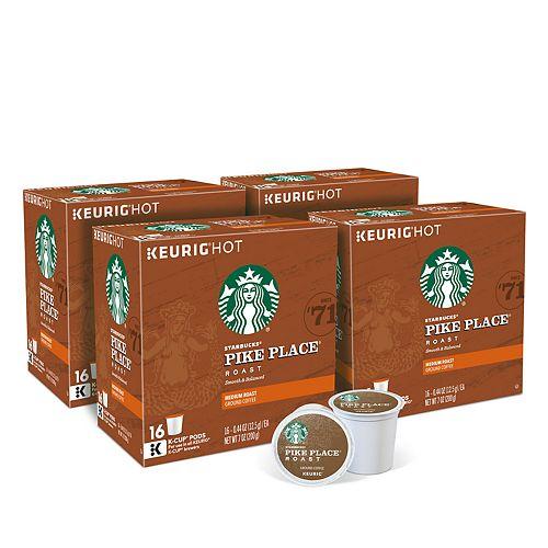 Starbucks Pikes Place Coffee, Keurig® K-Cup® Pods, Medium Roast, 64 Count