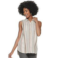 601f82ff51b01 Women s SONOMA Goods for Life™ Button Down Tank