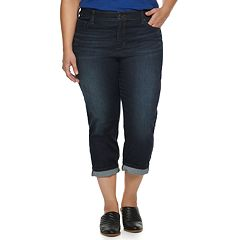 Plus Size SONOMA Goods for Life™ Cuffed Capri Jeans