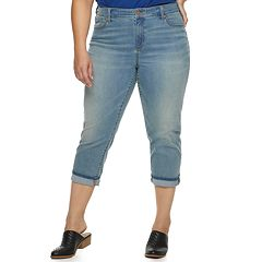 80404d95908 Plus Size SONOMA Goods for Life™ Cuffed Capri Jeans