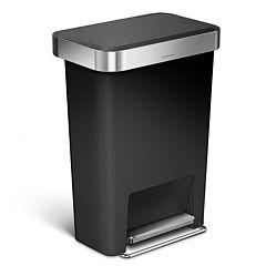 simplehuman 12-Gallon Rectangular Step Trash Can