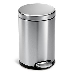 simplehuman 1-Gallon Round Step Trash Can