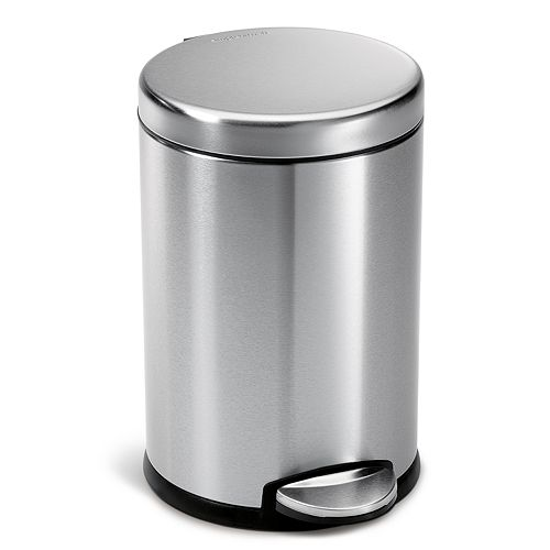 simplehuman 1-Gallon Round Step Trash Can