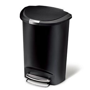 simplehuman 13-Gallon Semi-Round Step Trash Can