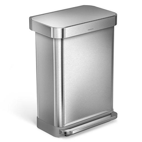 simplehuman 14.5-Gallon Rectangular Step Trash Can