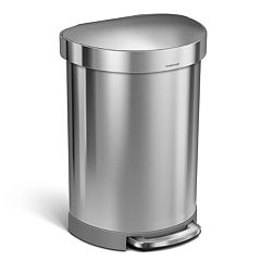 simplehuman 16-Gallon Semi-Round Step Trash Can