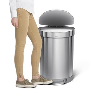 simplehuman 16-Gallon Semi-Round Step Trash Can