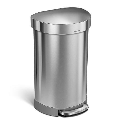 simplehuman 12-Gallon Semi-Round Step Trash Can