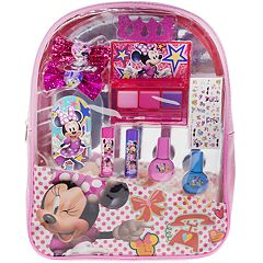 Disney's Minnie Mouse Girls Cosmetic Kit Backpack Set