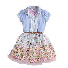 Girls 4-6x Knitworks Floral Dress & Shrug Set