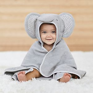 Baby Just Born Elephant Hooded Towel