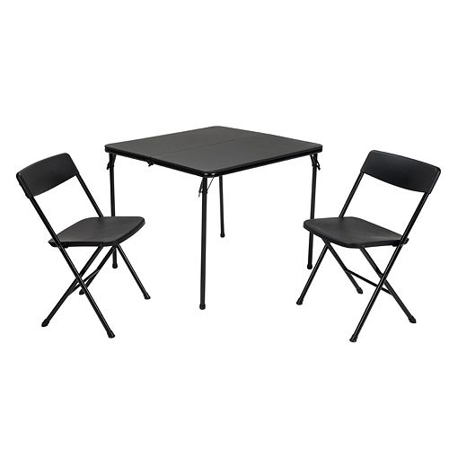 COSCO Tailgate Indoor / Outdoor Folding Table & Chair 3-piece Set