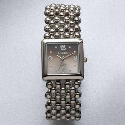Mudd Silver Tone Bead Expansion Watch - Juniors