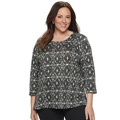 Plus Size Croft & Barrow® Printed Top