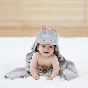 Baby Just Born Hippo Hooded Towel