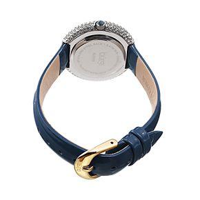 burgi Women's Diamond Accent Leather Watch