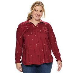 Plus Size SONOMA Goods for Life™ Challis Shirt