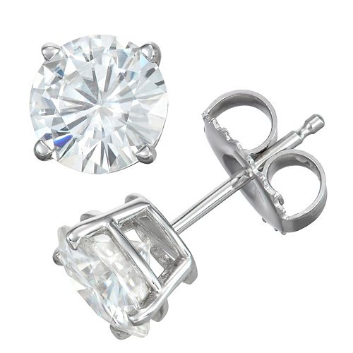 8730c9ec7 14k Gold 2 Carat T.W. Lab-Created Moissanite Solitaire Stud Earrings