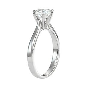 14k Gold 1 1/2 Carat T.W. Lab-Created Moissanite 6-Prong Solitaire Ring