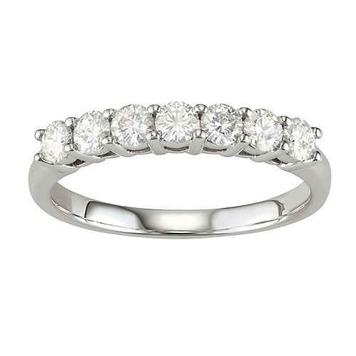 14k Gold 3/4 Carat T.W. Lab-Created Moissanite 7-Stone Band
