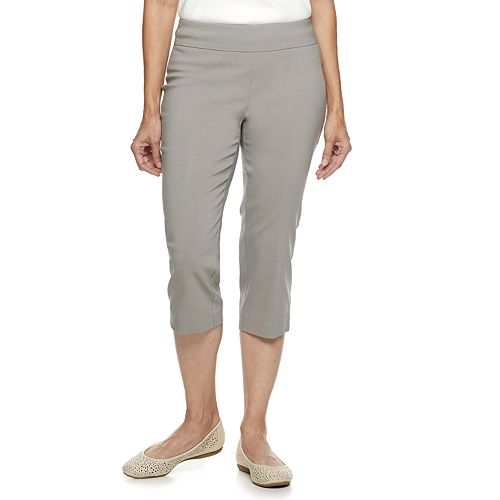 Women's Dana Buchman Embroidered Pull-On Mid-Rise Capris