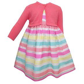 Baby Girl Blueberi Boulevard Stripe Dress & Cardigan