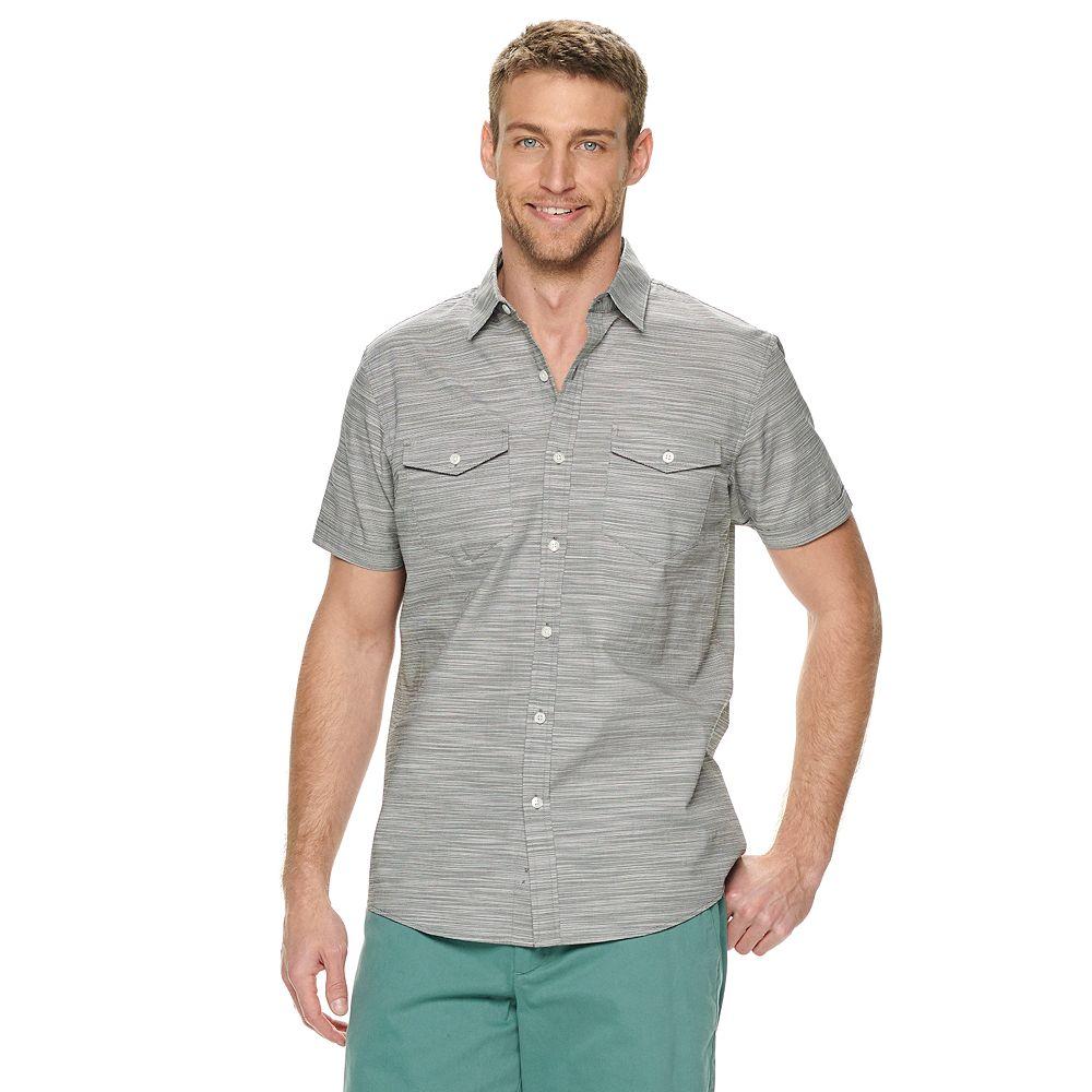 Men's Apt. 9® Textured Slubbed Button-Down Shirt