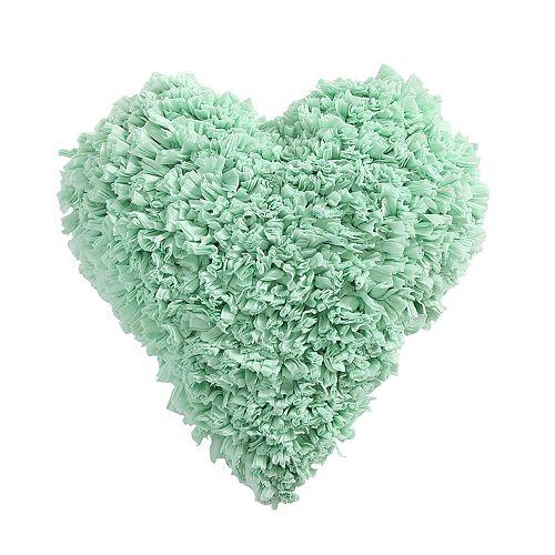 VCNY Calista Heart Paper Shag Decorative Throw Pillow