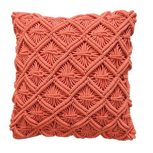 VCNY Dorthea Crotcheted Decorative Throw Pillow
