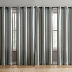 VCNY Isabella 4-pack Faux Silk Window Curtain Set