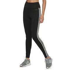1bdaf376e Women's adidas Designed to Move 3-Stripe High-Waisted Leggings. Black White