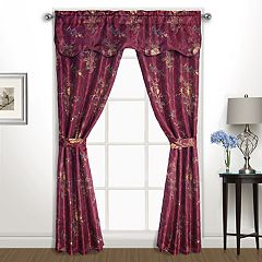 United Curtain Gemini 5-piece Window Curtain Set