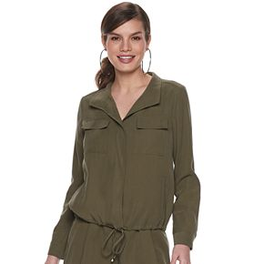 Women's Jennifer Lopez Utility Shirt Jacket