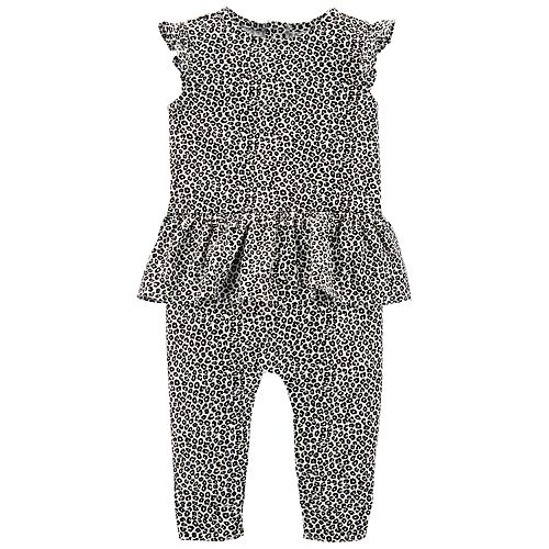 Baby Girl Carter's Cheetah Ruffled Jumpsuit