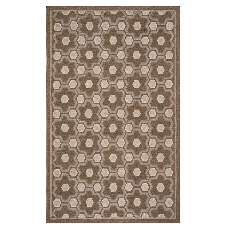 Safavieh Martha Stewart Amos Rug, Brown, 5.5X8.5 Ft