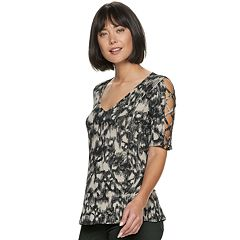 682bd9e9e19 Women s Rock   Republic® Lace-Up Sleeve Top