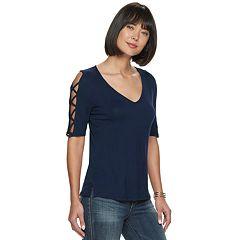af05eafeded79 Womens Blue Cold Shoulder Tops   Tees - Tops