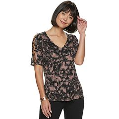 2b339f97abc6 Women s Rock   Republic® Lace-Up Sleeve Top
