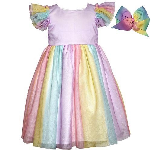 Baby Girl Blueberi Boulevard Unicorn Rainbow Tulle Dress